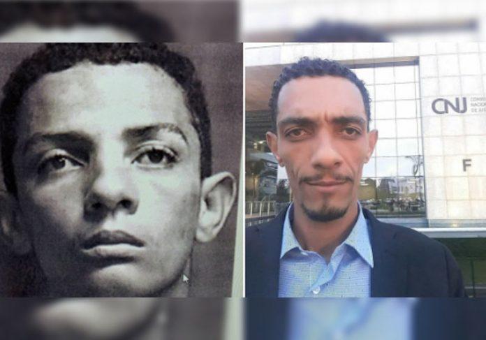 Erivelto na 1ª prisão e agora formado - Fotos: reprodução / Facebook
