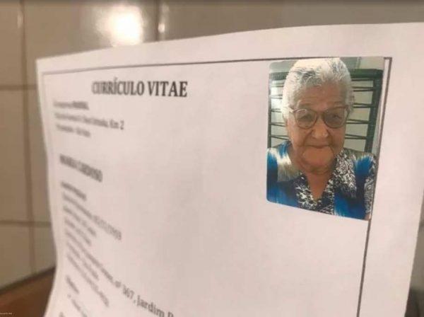 Curriculo da idosa - Foto: Foto: Rafael Ferraz/TV TEM