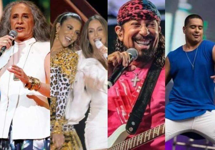 Bethânia, Ivete, Claudia, Bell e Léo - Fotos: reprodução