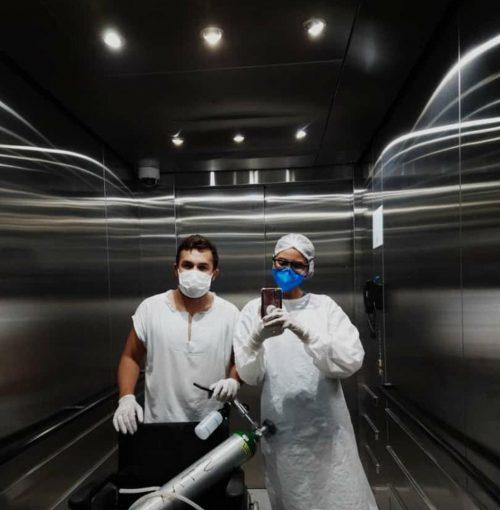 Wadson e Rebeka no hospital - Foto: arquivo pessoal