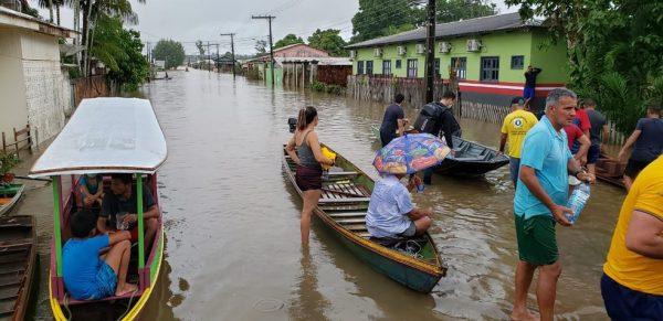 A enchente no interior do Acre - Gleydison Meireles/Arquivo pessoal