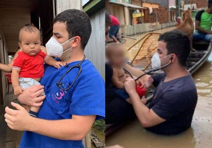 Dr. Rodrigo com Denis hoje e na semana passada - Fotos: Instagram