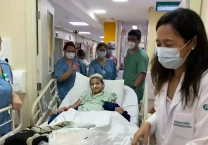 Arthur deixou o hospital - Foto: reprodução / TV Globo