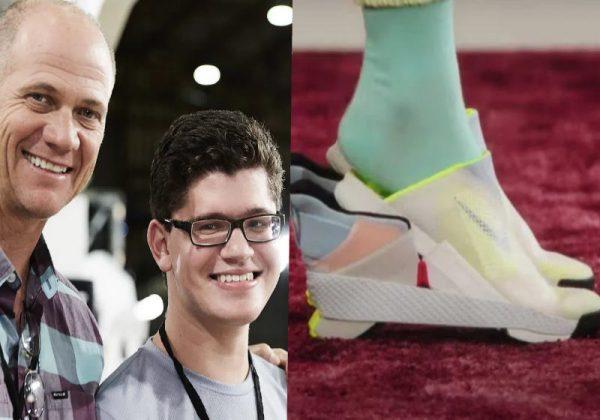Matthew e o designer da Nike, Tobie Hatfield Foto: Divulgação