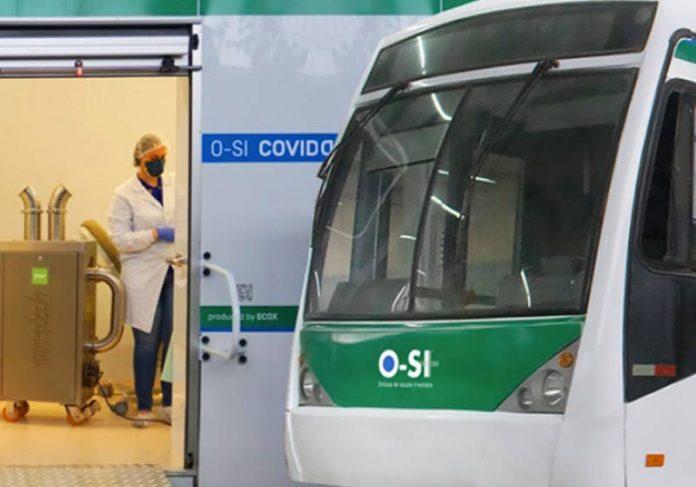 Ônibus transformado em clínica móvel - Foto: Projeto O-SI / divulgação