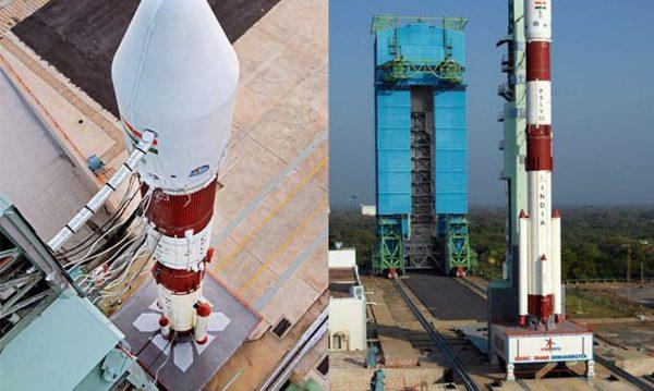 Foguete da Índia que vai lançar satélite brasileiro - Fotos: ISRO