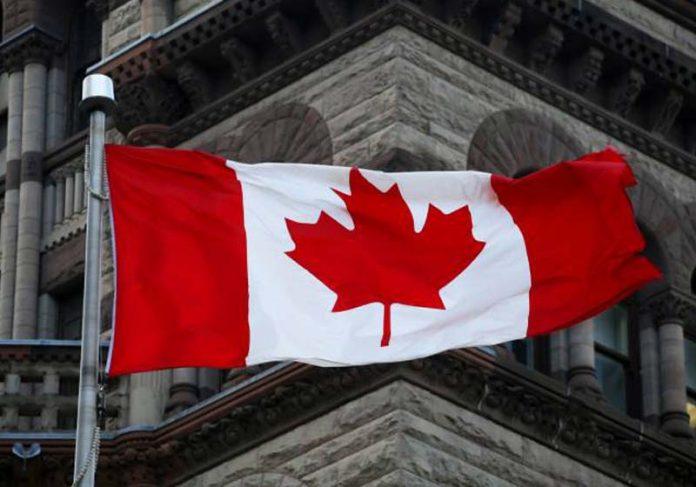 Bandeira do Canadá, que vai abrir seleção de emprego - Foto: Carlos Bezz/Getty Images