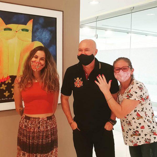 Roberta, Rubinho e dona Marlene - Foto: reprodução Unimes