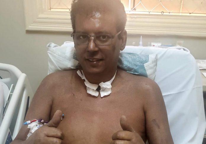 Rogério Maria depois do coma - Foto: arquivo pessoal