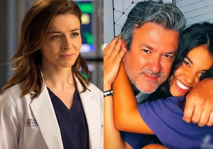 Amelia Shepherd de Grey's Anatomy, Dr. Ricardo e a filha Manu - Fotos: divulgação e arquivo pessoal