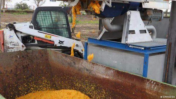 Laranjas são processadas e o metano extraído delas é transformado em energia - Foto: Emasesa