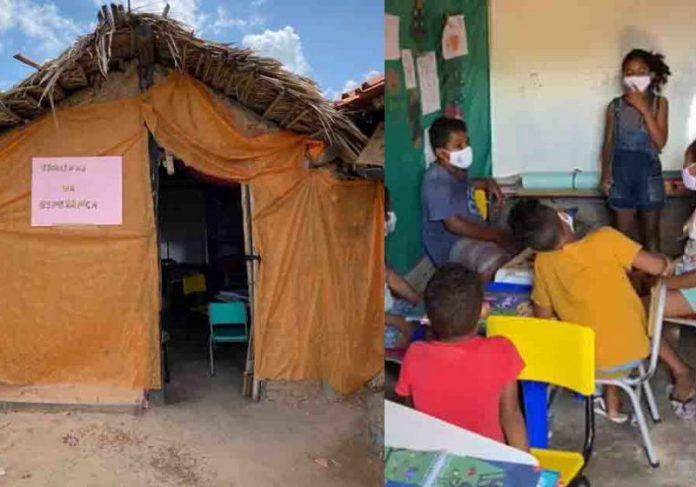 Escola em barraco de taipa ajuda 30 crianças que ficaram sem estudar na pandemia. - Foto: Neyara Pinheiro