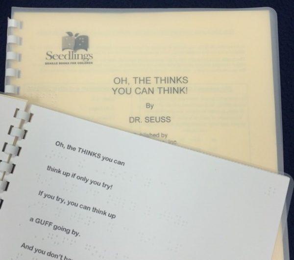 Primeiro livro transcrito em braile por Debra. - Foto: reprodução