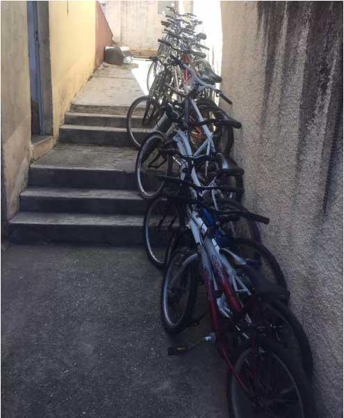 20 bicicletas estão em uso e outras 20 seguem aguardando reforma — Foto: Fábio Gianolla/Arquivo pessoal