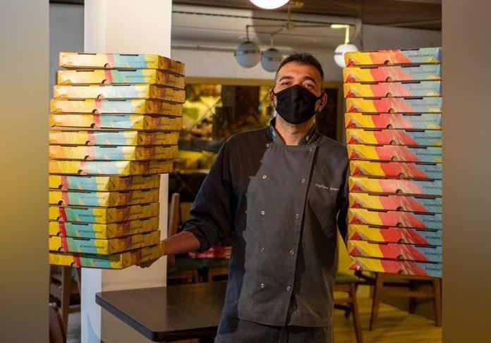 Para cada pedido de pizza pelo delivery, restaurante doará outra para os profissionais de saúde. - Foto: reprodução Instagram