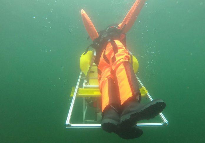 O robô é acionado a partir de um padrão de movimento. - Foto: S.Thomas Wasserwacht Halle