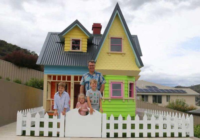 Pai recria casa de animação da Pixar, o filme preferido do filho! - Foto: arquivo pessoal