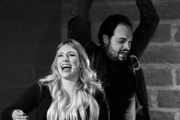Matheus Ceará e Bianca Campos durante a live - Foto: divulgação
