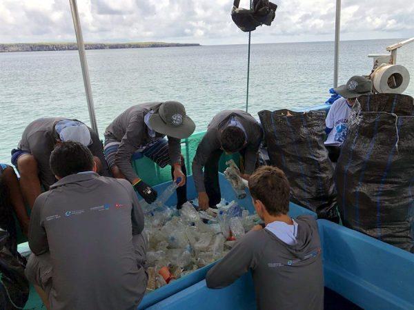 Grupo pretende realizar limpezas mensais para eliminar todo o lixo marinho das ilhas. - Foto: EFE