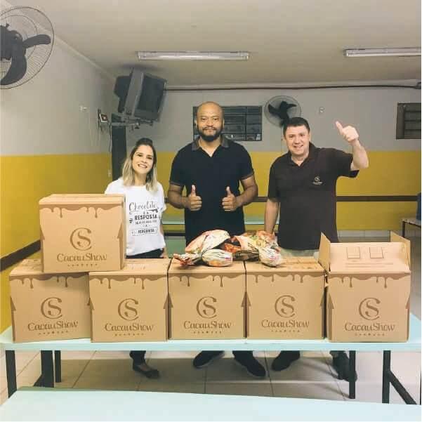 Doação feita ao Núcleo Assistencial Irmão Alfredo (NAIA) em São Paulo. - Foto: Divulgação/NAIA