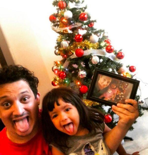 Pablo e Mia no Natal. - Foto: reprodução Instagram