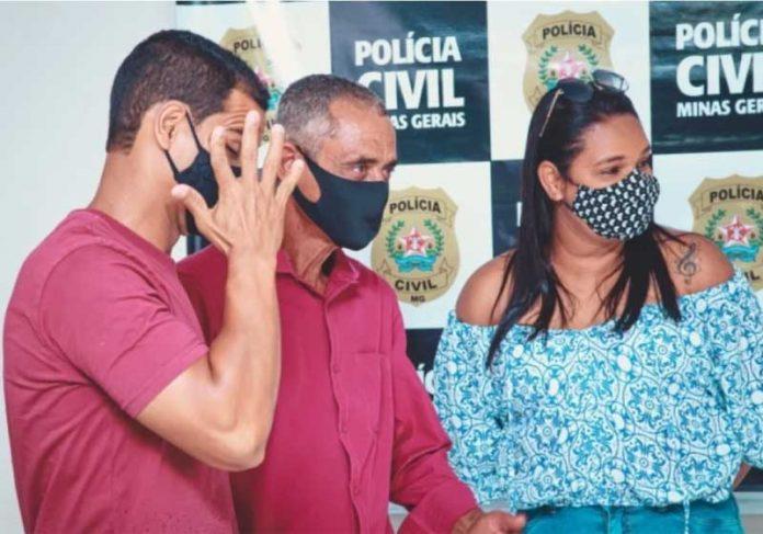 Polícia Civil ajuda em reencontro de pai e filhos. O momento foi emocionante! - Foto: reprodução Correio de Minas