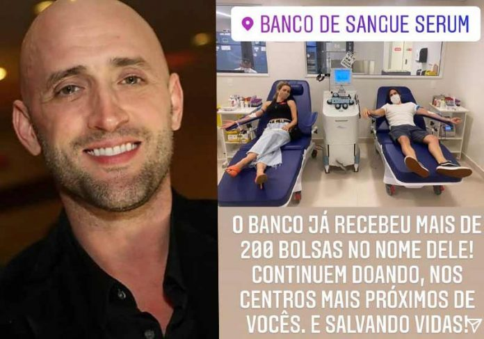 Artistas doando sangue para Paulo Gustavo - Fotos: reprodução / Instagram