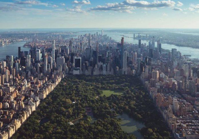 Vista aérea do Central Park, em Nova York - Foto: Jermaine Ee/Unsplash
