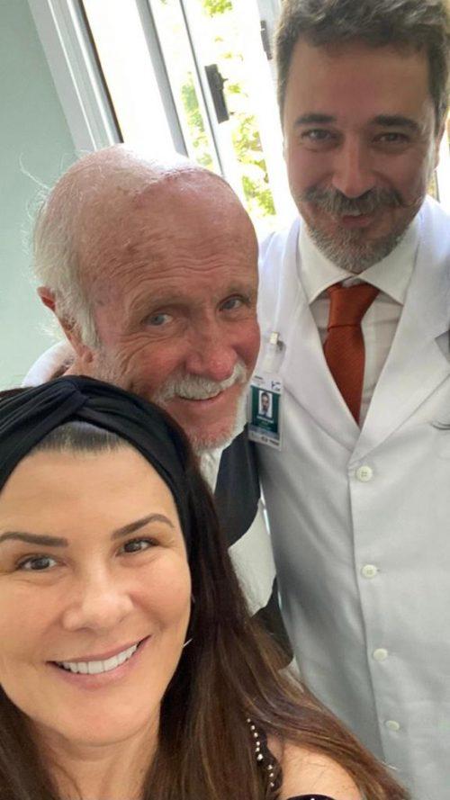 Patrícia, seu José e o médico - Foto: arquivo pessoal