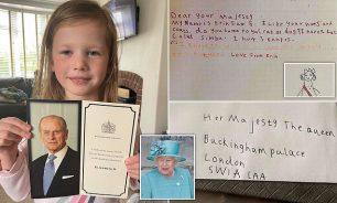 Erin com a resposta da rainha e a cartinha que mandou - Fotos: MENMedia
