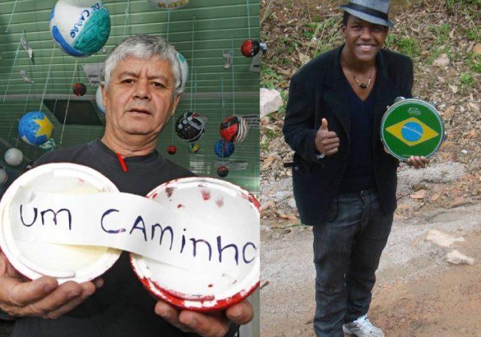 Fernando e um jovem abrigado na chácara - Fotos: divulgação