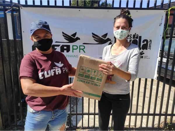 Doação de cestas básicas - Foto: divulgação