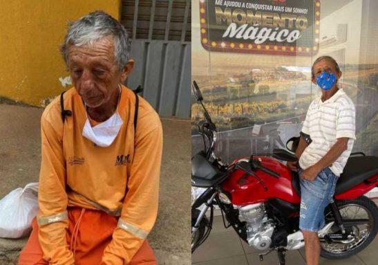 O gari foi assaltado enquanto descansava, em Juazeiro do Norte, Ceará. - Foto: reprodução
