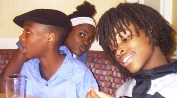 Najee e dois irmãos. - Foto: arquivo pessoal