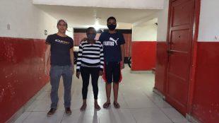 Fábio, Luiz Henrique e a avó dele - Foto: Educ360