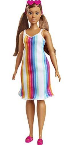 Barbie Rainbow Stripe Dress - Foto: divulgação
