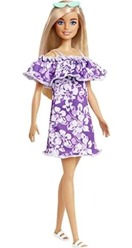 Barbie Purple Floral Dress - Foto: divulgação