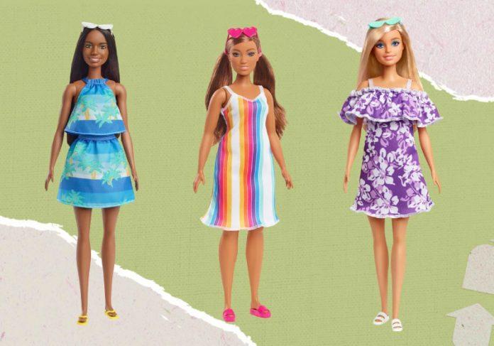 A Barbie produzida com plástico retirado dos oceanos foi lançada nos EUA e pode chegar ao Brasil em breve. - Foto: divulgação