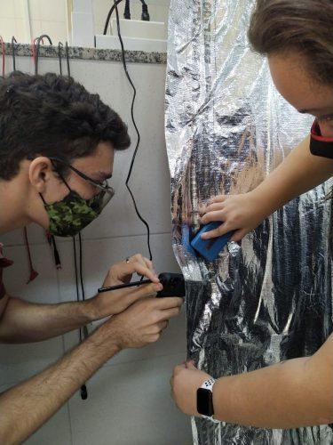 Descontaminação das máscaras - Foto: arquivo pessoal