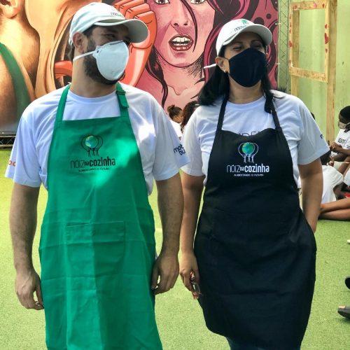 Chefs Filipe Catão e Marilia Koury na Cidade de Deus - Foto: divulgação