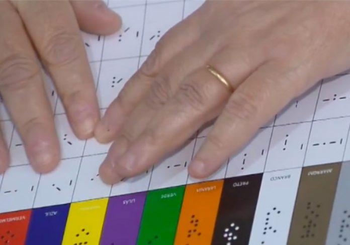 O código de cores para pessoas cegas ajudará no cotidiano e trará mais acessibilidade. - Foto: divulgação