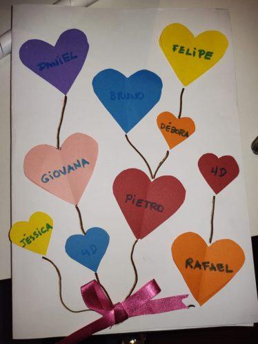 Cartão feito por alunos - Foto: divulgação