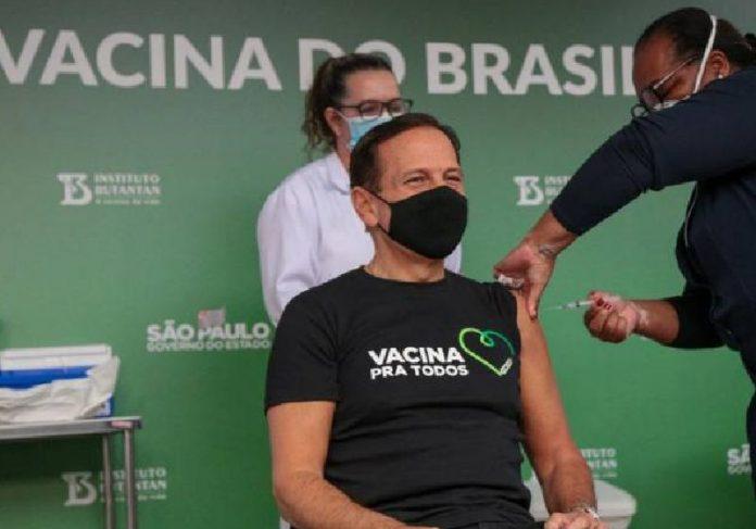 Doria recebeu a 1ª dose da vacina contra Covid-19 no mês passado- Foto Divulgação