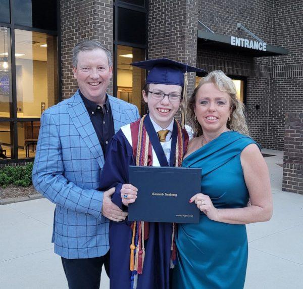 Mike com os pais - Foto: arquivo pessoal