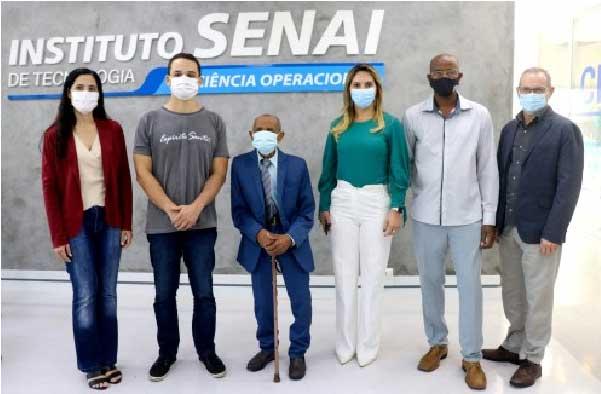 Pedro fará curso no SENAI. - Foto: reprodução SENAI