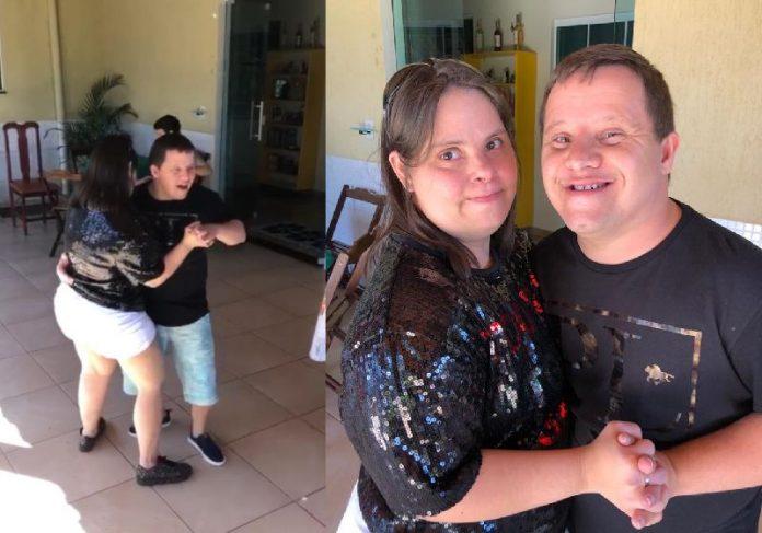 Lelê e Gil dançando no aniversário dele de 36 anos - Fotos: arquivo pessoal