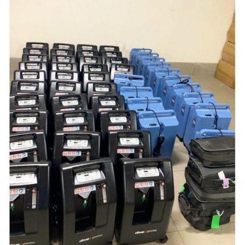 Concentradores de oxigênio enviados pela médica - Foto: reprodução Instagram