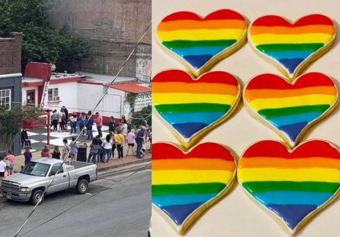 Moradores fazem fila para comprar na padaria que foi boicotada por apoiar movimento LGBT - Fotos: Facebook