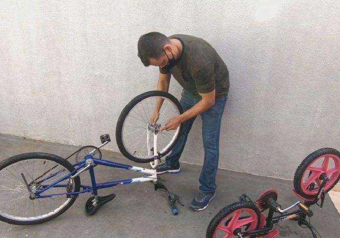 Soldado André restaurante bikes para doar - Foto: reprodução / TVTEM