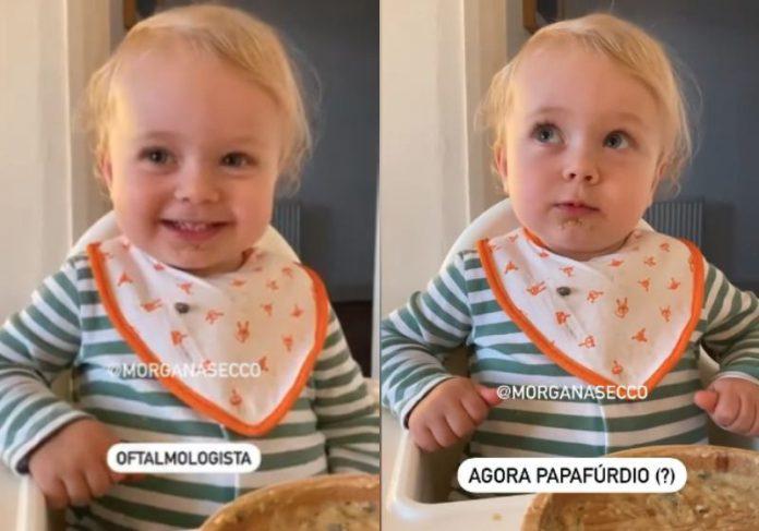 A Alice tem 2 anos e pronuncia palavras difíceis com facilidade - Fotos: reprodução / Instagram